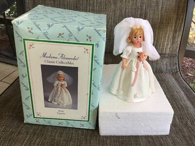 """1999 Madame Alexander Classic Collectible Bride Figurine Resin Figure 6"""" tall"""