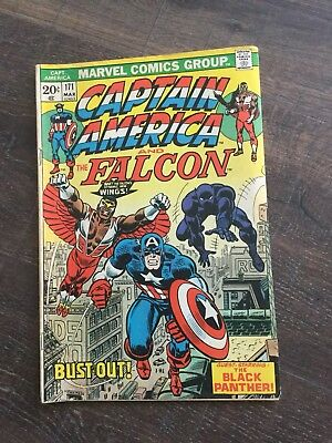 Captain America #171 (Mar 1974, Marvel) featuring The Black Panther