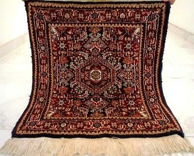 JOLI PETIT TAPIS HIRATI PERSE TISSE A LA MAIN  DE COLLECTION 66 x 61 CM