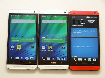 Lot of 3 HTC One M7 PN07200 32GB Sprint Smartphones AS-IS CDMA