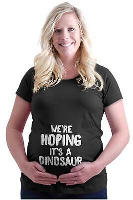 4d74d42811703 Maternity Clothes Hoping Dinosaur Funny Cute Mom Cool Mother Pregnancy  T-Shirt