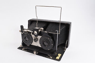 Ica Ideal Stereo Camera w AG Dresden Extra Rapid Aplanat Baldour 125mm f/8 lens
