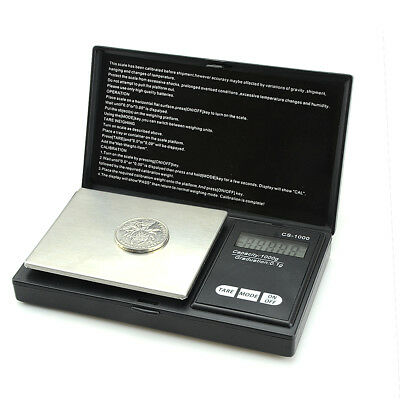 1000g x 0.1g Professional Pocket Jewelry Gold Weed Digital Scale Silver scale