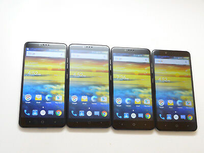 Lot of 4 ZTE ZMax Pro Z981 32GB T-Mobile Smartphones AS-IS GSM &