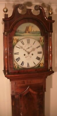 Antique Mahogany Eight Day  Nautical  Longcase / Grandfather Clock