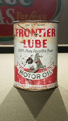 Ultra Rare Frontier Lube 100% Pure Paraffin Motor Oil Can