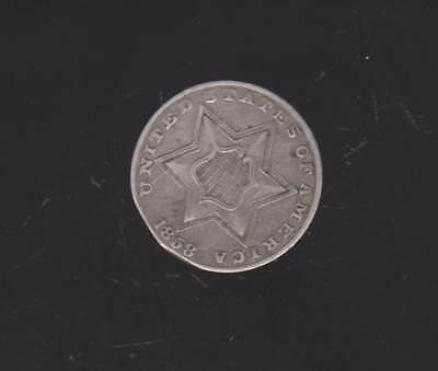 Very Scarce Obsolete Coin  1858 3 Cent Silver  Very Nice Detail