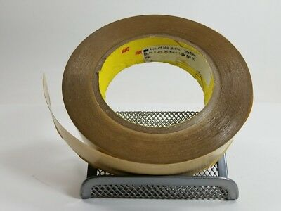 3M 415 Double Coated Polyester Tape, Clear, 1/4 in x 36 yard 4.0 mil (1 roll)