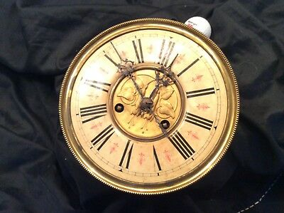 "Vienna type wall clock 8"" face and mechanism for parts 64c/m c1900"