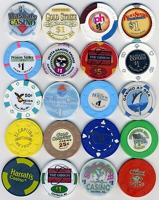 20 Casino Chips from various locations...