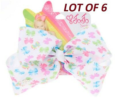 Lot of six JoJo Siwa Large Bow Pattern Signature Hair Bow