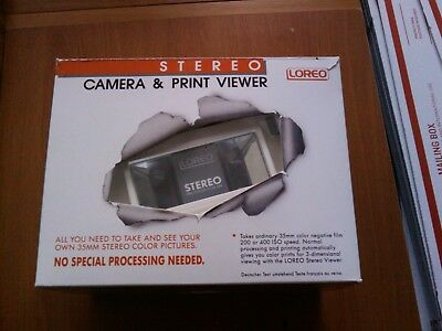 3D Vintage Loreo Stereo Camera & Print Viewer Boxed Pouch Carry Case