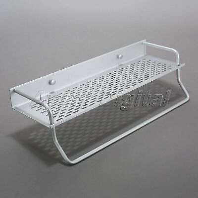 Wall Mounted Bathroom Shower Organizer Storage Shelf Rack Towel Bar Rail Holder