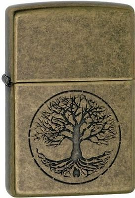 Zippo 29149, Tree of Life, Antique Brass Finish Lighter, ***Extra Flints/Wick***