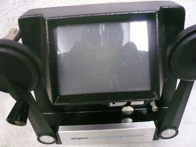 Argus 768.. Super 8Mm Movie Editor/viewer..w/ Takeup Reel & Instructions