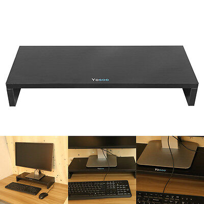 BLK 1 Layer Wooden Monitor Stand LCD Computer Monitor Riser Desk Display Bracket