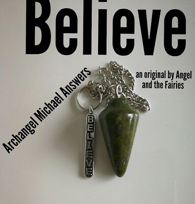 Code 237 Believe ARCHANGEL Michael Answers Unakite Infused Pendulum Angel Practi