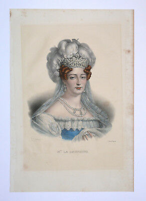 Marie Therese Charlotte duchesse d'Angouleme - Marie Antoinette - Litho.Belliard