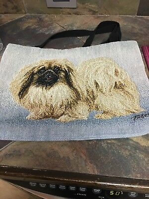 Shih tzu Terrier Tapestry Tote Bag ~ Linda Picken