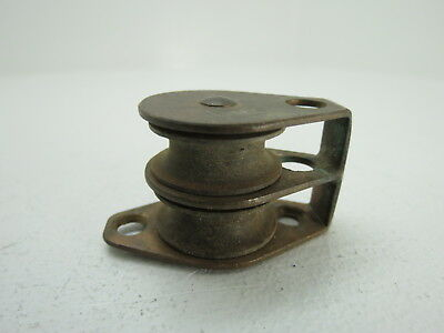 1 Inch Bronze Double Sailing Pulley Block Sail Boat Sheave  (#272)