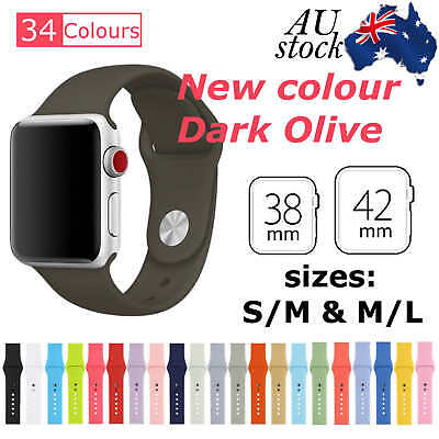 Sports Silicone Bracelet Strap Band For Apple Watch iWatch Series 1/2/3, 38/42mm