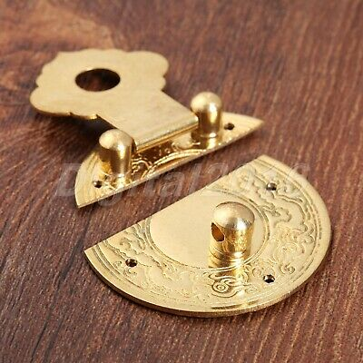 "36mm/1.42"" Chinese Tradition Small Classic Jewely Wooden Box Lock Latch 6 Nails"