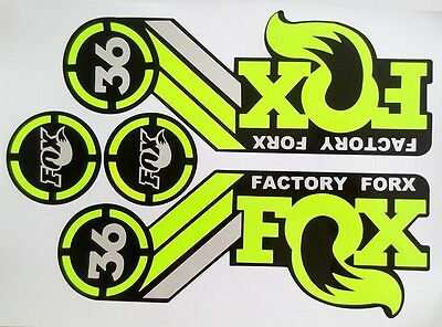 MTB Mountain Bike front Fork rear shock Sticker For FOX LE Bicycle luxury Decals