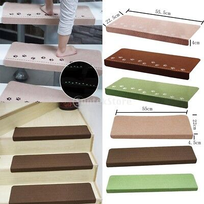 Safe Luminous Stair Tread Mats Indoor Staircase Protection Pad Floor Mat Rug