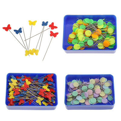 3 Box Straight Flower Head Pins Decorative Pin for Sewing Quilting DIY Craft