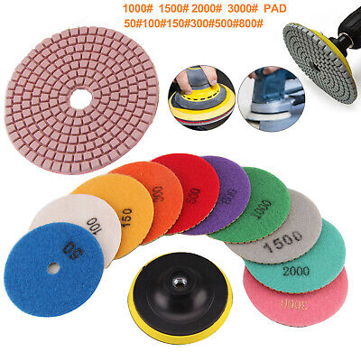 "11X Diamond Polishing Pads 4"" Grinding Disc For Granite Marble Concrete Stone"