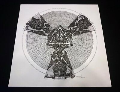 MAYHEM ESOTERIC WARFARE SIGNED PRINT LIMITED OF 9 (!) Watain Wacken TAAKE GHOST