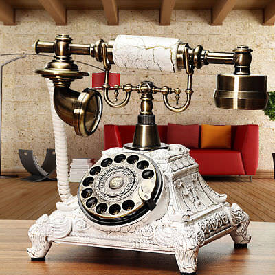 Vintage Antique Retro Phone Old Fashion Rotary Telephone Office Home Handset