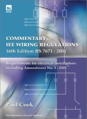 Commentary on IEE Wiring Regulations (BS 7671: 2001): Amendment No.1, 2002 to 1