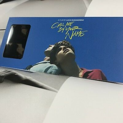 André Aciman Call Me by Your Name Movie Andre CMBYN Black Film Label Bookmark