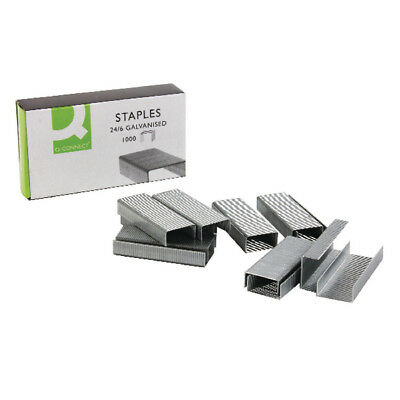 1000 to 20000 BULK BUY 24/6 STAPLES FOR STAPLERS - BOX OF 1000 Q connect brand