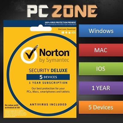 NORTON Internet Security 2019 - PC/Mac/iOS/Android - 1 Year - 5 Devices Download