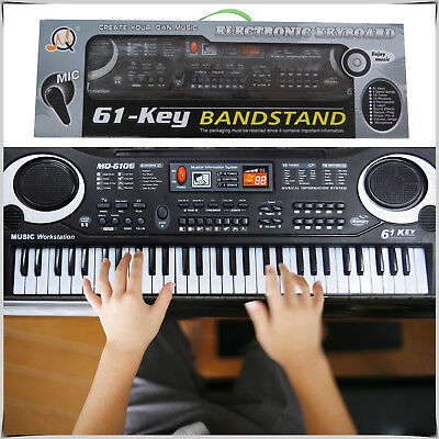 61 Keys Digital Music Electronic Keybaord Electric Piano and Microphone Gift Set