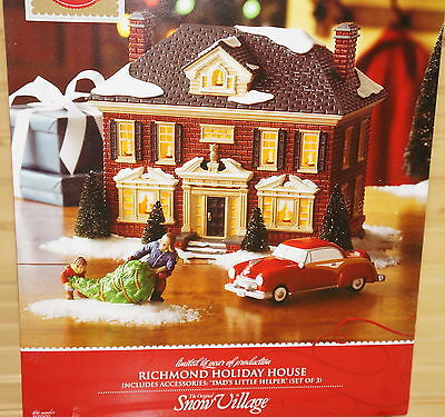 Department 56 Richmond Holiday House #805509 Daddy's Little Helper Included/ Box
