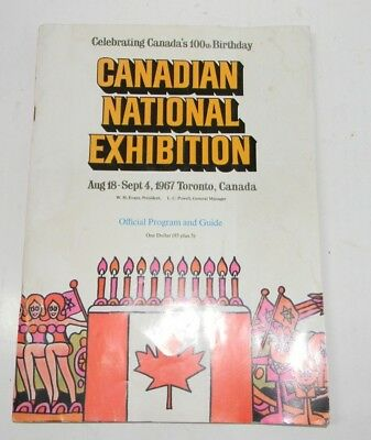 1967 Canadian National Exhibition Toronto Official Souvenir Program 100th