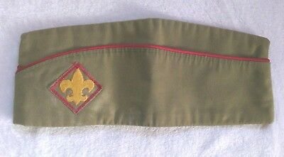Vintage Official Boy Scouts of America Garrison Hat - Large 7-7 1/8