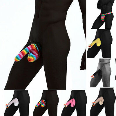 Sexy Mens Pouch Penis Thongs Sock Warmer Sleeve Sheath Cover Up Underwear 1~7#