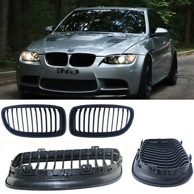 2 X Fit For 2008-2011 BMW E90 318 320i 325i 330i Front Grill Grilles Gloss ABS
