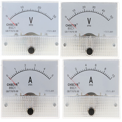 85C1 0-30V/50V 0-5A/10A Analog Panel AMP Current Meter Voltmeter Gauge DC Tester