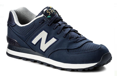 scarpe Uomo sneakers NEW BALANCE ML 574 SKH BLU