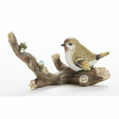 New Delton 6.7X3.6 Inches Resin Grn Bird On Branch