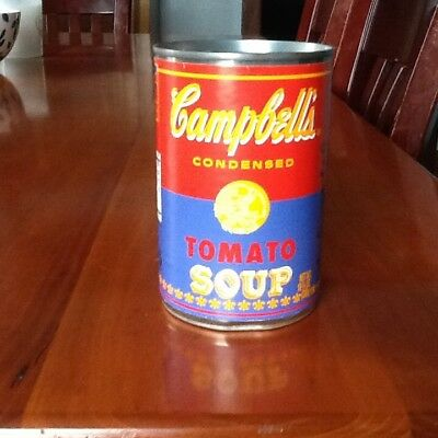 Andy Warhol 50th anniversary Campbell soup can Red and purple