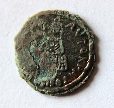 Byzantine ANDRONICUS III. PALAEOLOGUS 1328 - 1341 AD Bronze Coin