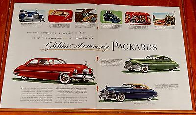 1949 Packard Cars Golden Anniversary Large Ad - Vintage American 40S Retro