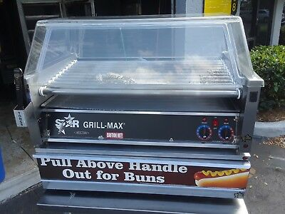Star Mfg Grill-Max Electronic Roller Grill w/ 50-Bun Drawer