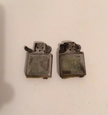 Lot Of 2 Vintage Canadian Zippo Lighter Inserts